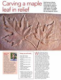 carving maple leaf in relief u2022 woodarchivist