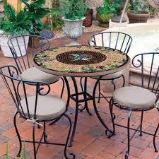 Mosaic Patio Tables Knf Garden Designs 36 Iron Mosaic Patio Set For 4 36set4