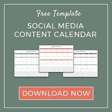 how to plan your social media content calendar free template