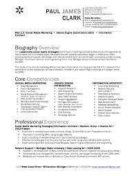 social media resume clark social media resume