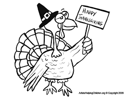 happy thanksgiving turkey sign coloring pages and free printable