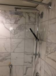 rain shower in marble bath with hand held picture of the westin