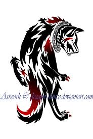 tribal wolf design