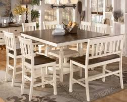 roundhill furniture baum two tone solid wood 5 piece dining set