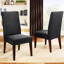 chair covers for dining room chairs stretch leather dining room chair cover 2 set bundle gallery dining