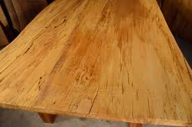 Reclaimed Old Wood Dining Room Table Spalted Curly Maple Dumonds - Maple dining room tables