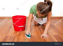 Laminate Floor Brush Woman Cleaning Floor By Hand Brush Stock Photo 56710912 Shutterstock