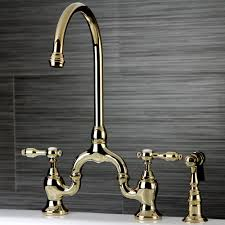 Polished Brass Kitchen Faucet Kingston Brass Ks7792talbs Tudor Polished Brass Two Handle Bridge