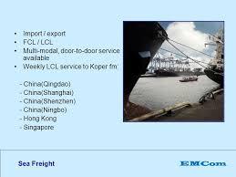 si e social lcl emcom your gateway to europe via koper port slovenia ppt