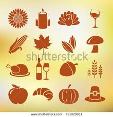 collection thanksgiving day icons stock vector 491920375
