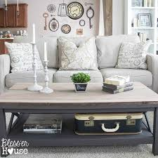 square gray wood coffee table barn wood top coffee table