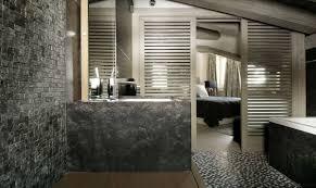 Stone Tile Bathroom Ideas Black Stone Tile Bathroom Thesouvlakihouse Com