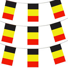 Plastic Flags 33ft 10 Meters Belgian Flag Bunting Belgium Party Euro Decoration