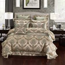 luxury bedding set silk satin jacquard bedding set queen king