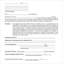 10 real estate letter of intent templates u2013 free sample example