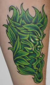 green ink leaf man tattoo photo 1 2017 real photo pictures