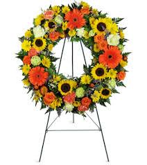 sunflower wreath heavenly sunflower wreat moline il florist
