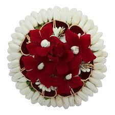 hair brooch design apurva pearls maroon floral design hair brooch jewelmaze