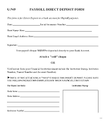 direct deposit form template payroll exquisite picture u2013 studiootb