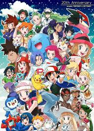 happy th anniversary pokémon ash and his friends of humans and