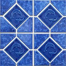 ddl 9520 electric blue marble luvtile pool tile