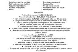 Retail Assistant Manager Resume Sample by Overnight Stock Associate Resume Reentrycorps