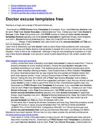 free fake doctors note template download forms fillable