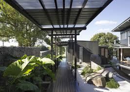 ravishing courtyard garden design with brown pot green plant