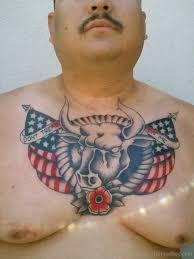 57 flag tattoos on chest