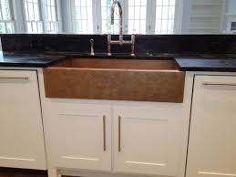 kitchen copper farmhouse brown undermount soapstone sink white
