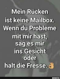 mailbox spr che mein rucken ist keine mailbox lustige bilder sprüche witze