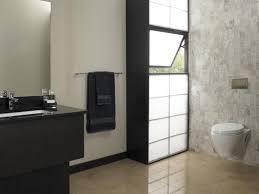 japanese style bathroom lighting on wooden floor mosaic wall tiles