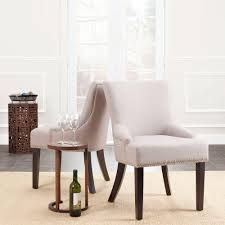 safavieh lotus taupe linen side chair set of 2 mcr4700a set2
