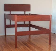Raised Platform Bed Frame Brown Wood High Raised Platform Bed Frame For Size