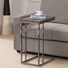 sofa table weathered grey finish expandable side end table free shipping