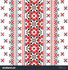 ukraine pattern vector embroidered good like handmade crossstitch ethnic stock photo photo