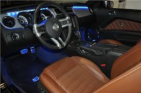 Mustang Interior 2014 Custom Carbon Fiber Sills U0026 Interior Lighting The Mustang Source