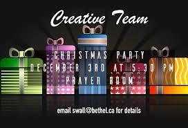 creative team christmas party bethel church ottawa