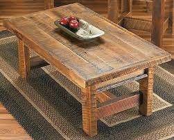 Barn Wood Coffee Table Barnwood Coffee Table With Shelf Pine Tree H O M E L I V I N G