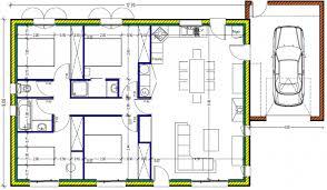 plan maison plain pied 100m2 3 chambres plan de maison plain pied 100m2 rectangle 899331plan4chbis lzzy co