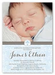 cross boy 5x7 invitation card baptism invitations