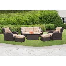 Fabric Outdoor Chairs Amazon Com Outdoor Patio Furniture Deep Seating Set With