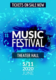 colorful vector music festival concert template flyer musical