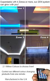 color changing led strip lights with remote colour changing led mood lighting systems