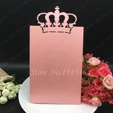 Wedding Invitations With Menu Cards Aliexpress Com Buy 30pcs Sale Crown Menu Cards Laser Cut