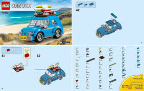 lego volkswagen beetle lego mini vw 30252 building instructions minifigure price guide