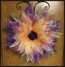 deco mesh flower wreath by anobletouch on etsy wreaths