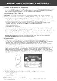 txrx25000 story time projector frozen user manual tech4kids inc