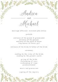 folded wedding program wedding programs match your colors style free basic invite