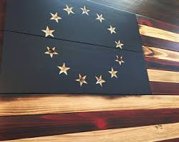 American Flag Home Decor Wood Colonial Flag Etsy